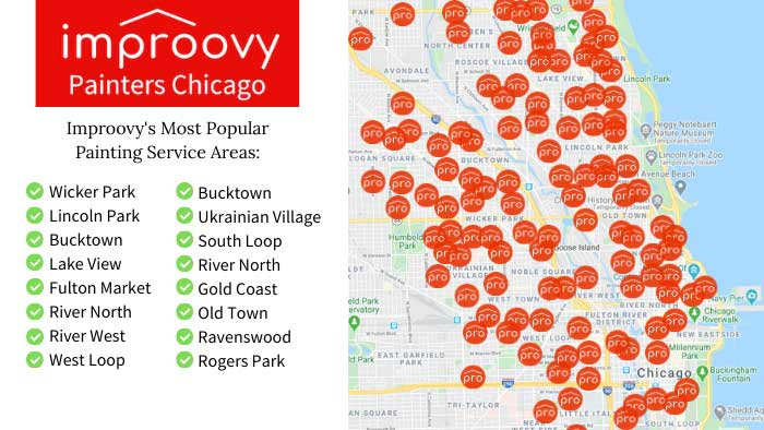 Chicago painters Local Service Areas Improovy