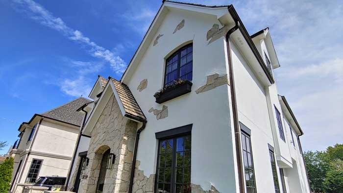white stucco house paint color