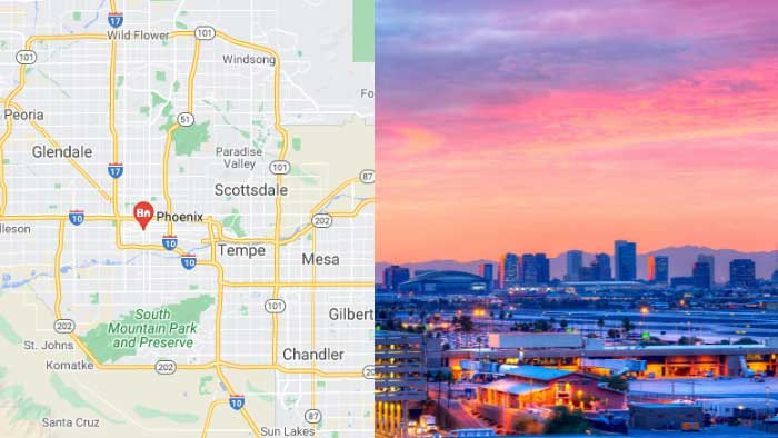 About Phoenix Arizona Maricopa county