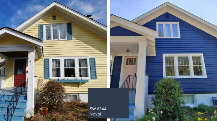 blue house exterior trending new color