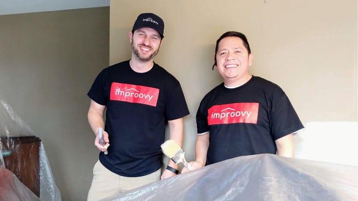 interior house painting team